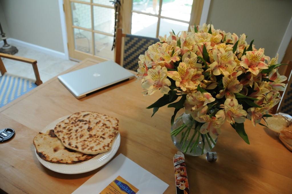 Successful homemade naan