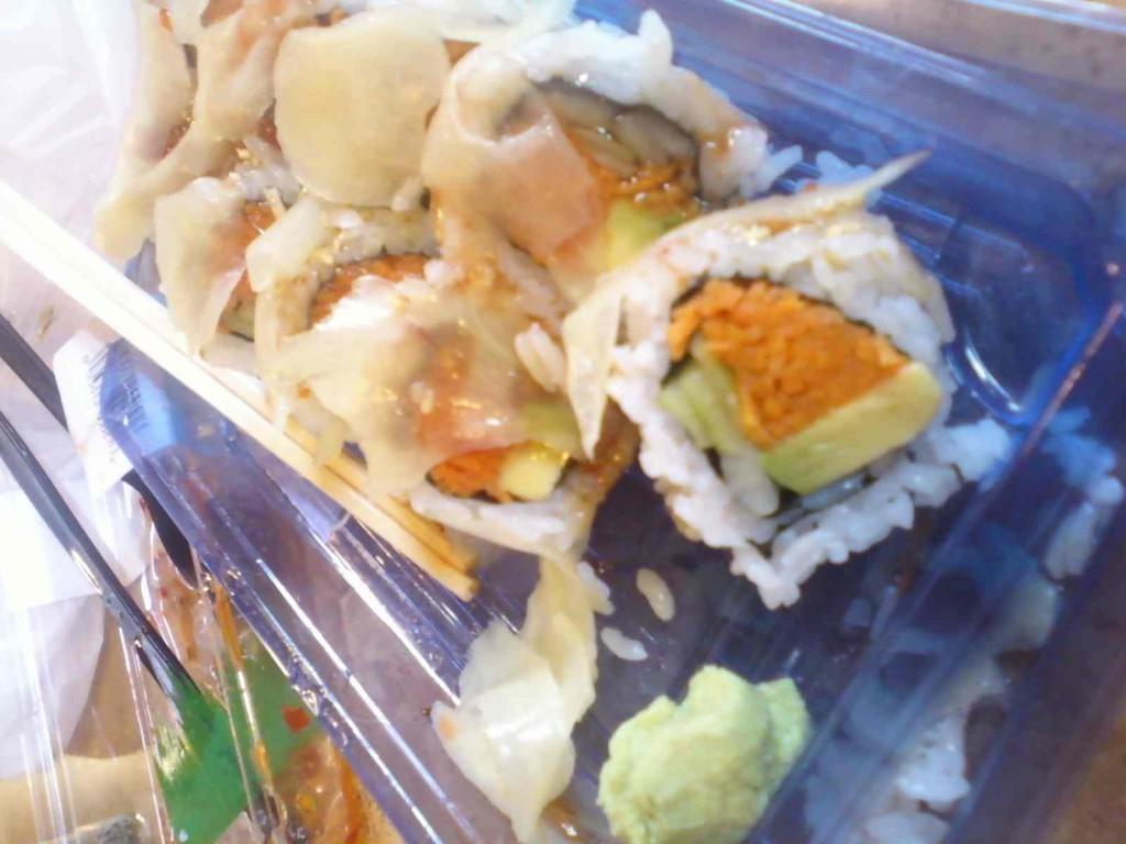 veggie sushi from my phone